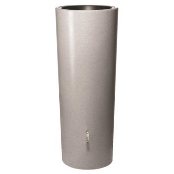 Garantia Regenton met Plantenbak 350 Liter Zilver