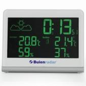 Buienradar weerstation met radiogestuurde klok