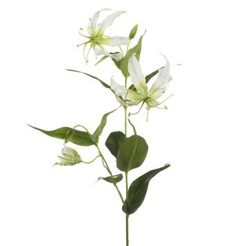 Kunstplant Gloriosa spray crème 75 cm