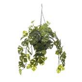 Kunstplant Monstera hanging basket 50 cm