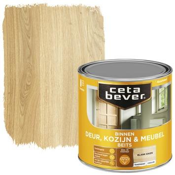 Cetabever binnenbeits deur, kozijn en meubel transparant blank eiken zijdeglans 250 ml