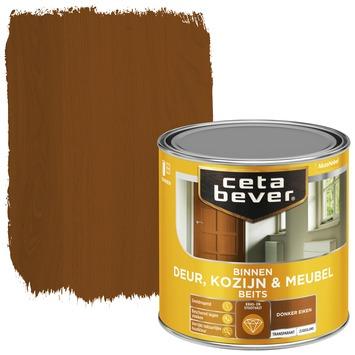 Cetabever binnenbeits deur, kozijn en meubel transparant donker eiken zijdeglans 250 ml