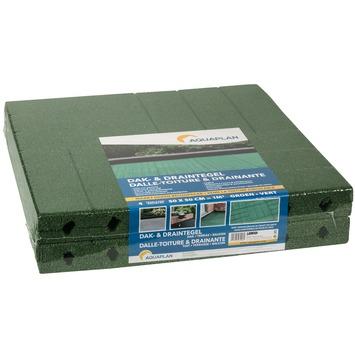 Aquaplan dak-/draintegel groen 50x50cm 1 m² 4 stuks