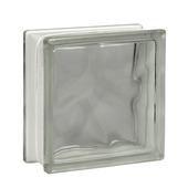 Glazen bouwsteen 19x19cm helder transparant