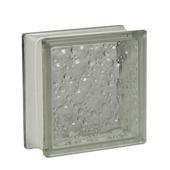 Glazen bouwsteen 19x19cm druppel wit