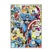 Canvas Captain America 70x50 cm
