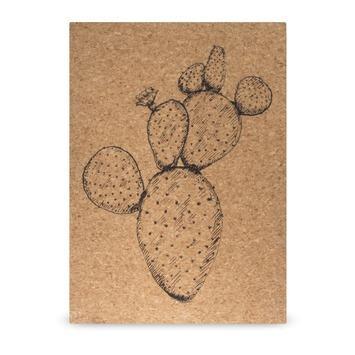 Print op kurk Cactus 50 x 70 cm