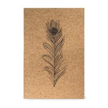 Print op kurk Veer 40 x 60 cm