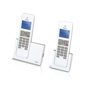 DECT telefoon, duo, wit/taupe