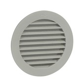 IVC Air luchtrooster rond wit 125 mm