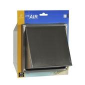 IVC Air overdrukrooster met kap RVS 125 mm
