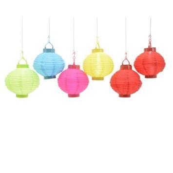 Chinese lampionverlichting solar 20 cm kleur