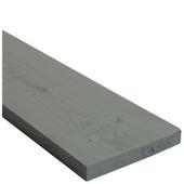 Plank vuren geschaafd 27x192 mm, lengte 250 cm grijs (RAL 7037)