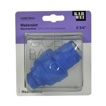 Karwei waterslot 3 4 inch binnendraads blauw kopen for Karwei openingstijden zondag
