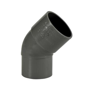 Martens PVC bocht 45° grijs 1x mof 40 mm