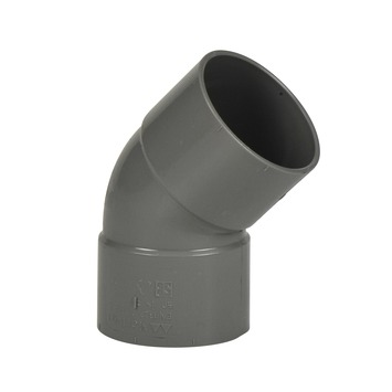 Martens PVC bocht 45° grijs 2x mof 40 mm