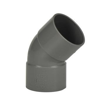 Martens PVC bocht 45° grijs 2x mof 50 mm