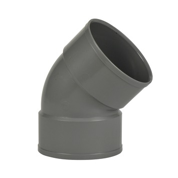 Martens PVC bocht 45° grijs 2x mof 110 mm