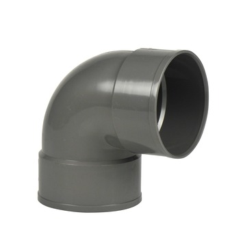 Martens PVC bocht 90° grijs 2x mof 110 mm