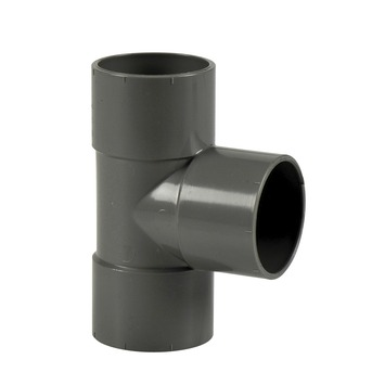 Martens t-stuk 90 graden mof grijs 40 mm