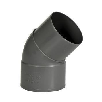 Martens PVC Bocht 45° Grijs Mof/ Verjongd 80 mm