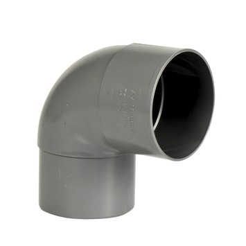 Martens PVC bocht 90° grijs mof/verjongd 80 mm