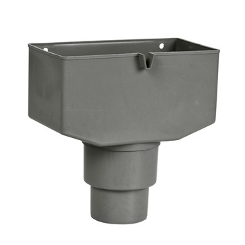 Martens vergaarbak en overloop grijs voor diameter 80 - 100 mm