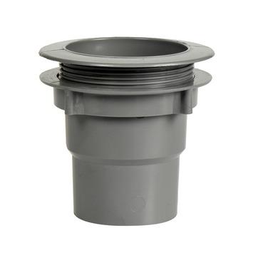 Martens bakgootuitloop met wartel grijs 125 mm