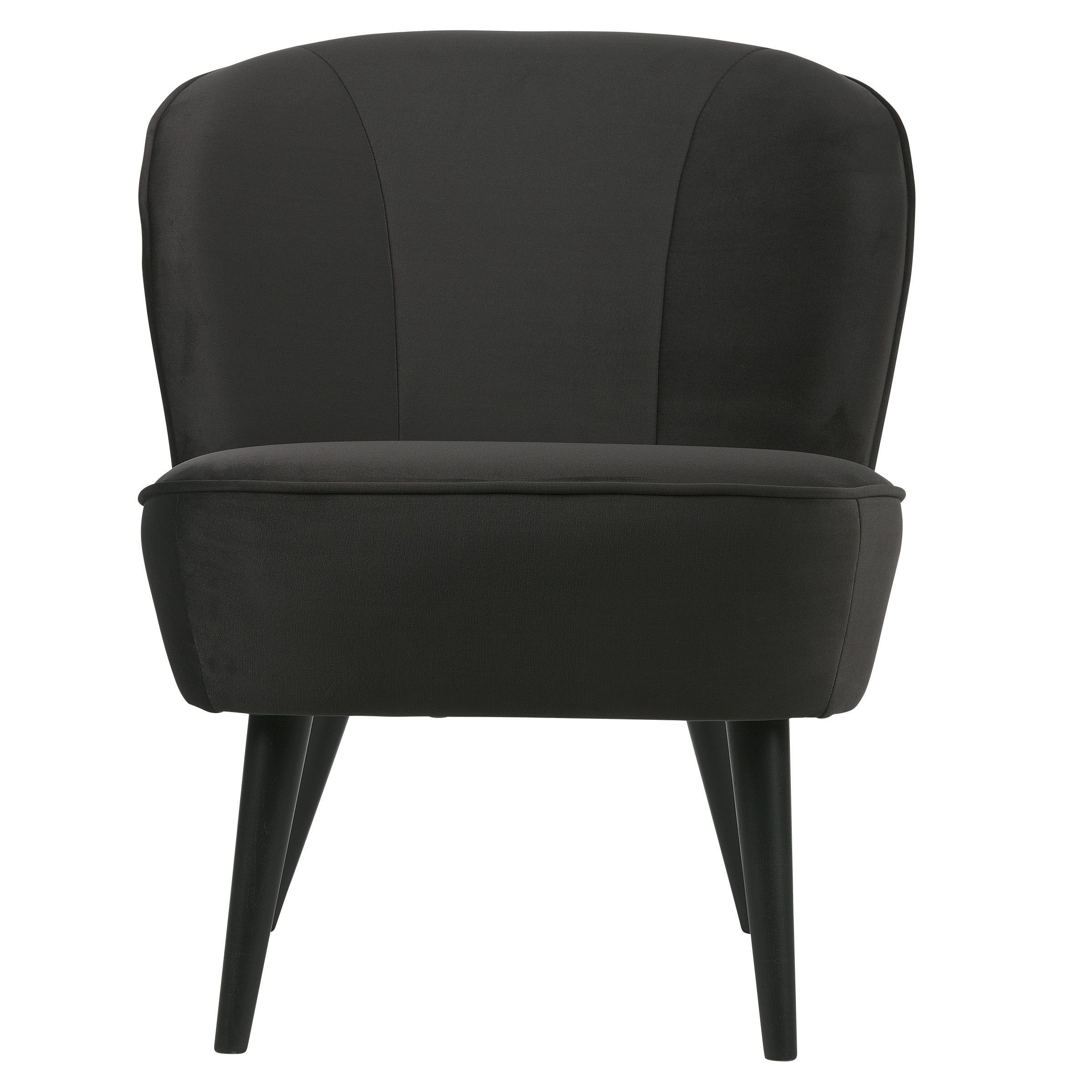 WOOOD fauteuil Sara fluweel antraciet