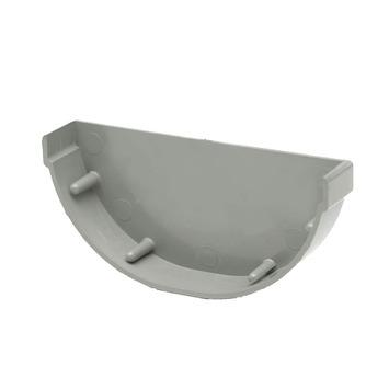 Martens mastgoot eindstuk grijs 100 mm