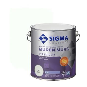 Sigma reinigbare muurverf RAL 9016 2,5 liter