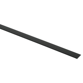 Platprofiel aluminium zwart RAL9005 20x2mm 250cm