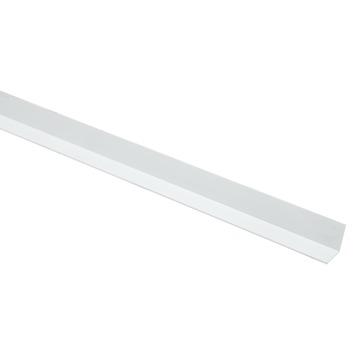 Hoekprofiel aluminium wit RAL9016 15x15x1,2mm 100cm