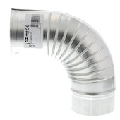 Bocht 90 graden aluminium 100 mm