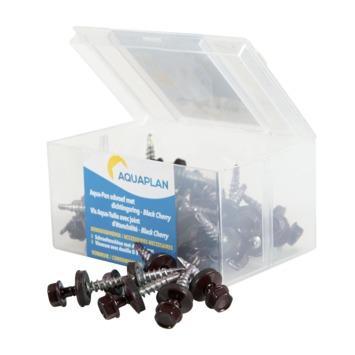 Aquaplan Aqua-pan schroef black cherry 40 stuks