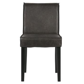 Woood eetkamerstoel Tessel ecoleer zwart 83x45x60 cm