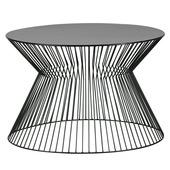 Woood salontafel Suus zwart Ø60 cm