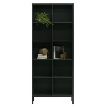 Woood boekenkast Laura hout zwart (hxbxd) 215x90x37 kopen? buffet ...