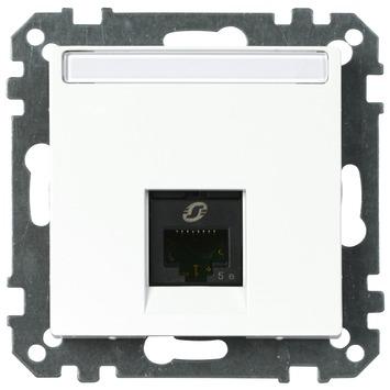 Merten System-M Pure inbouw Stopcontact CAT5 UTP 1 Voudig actief Wit