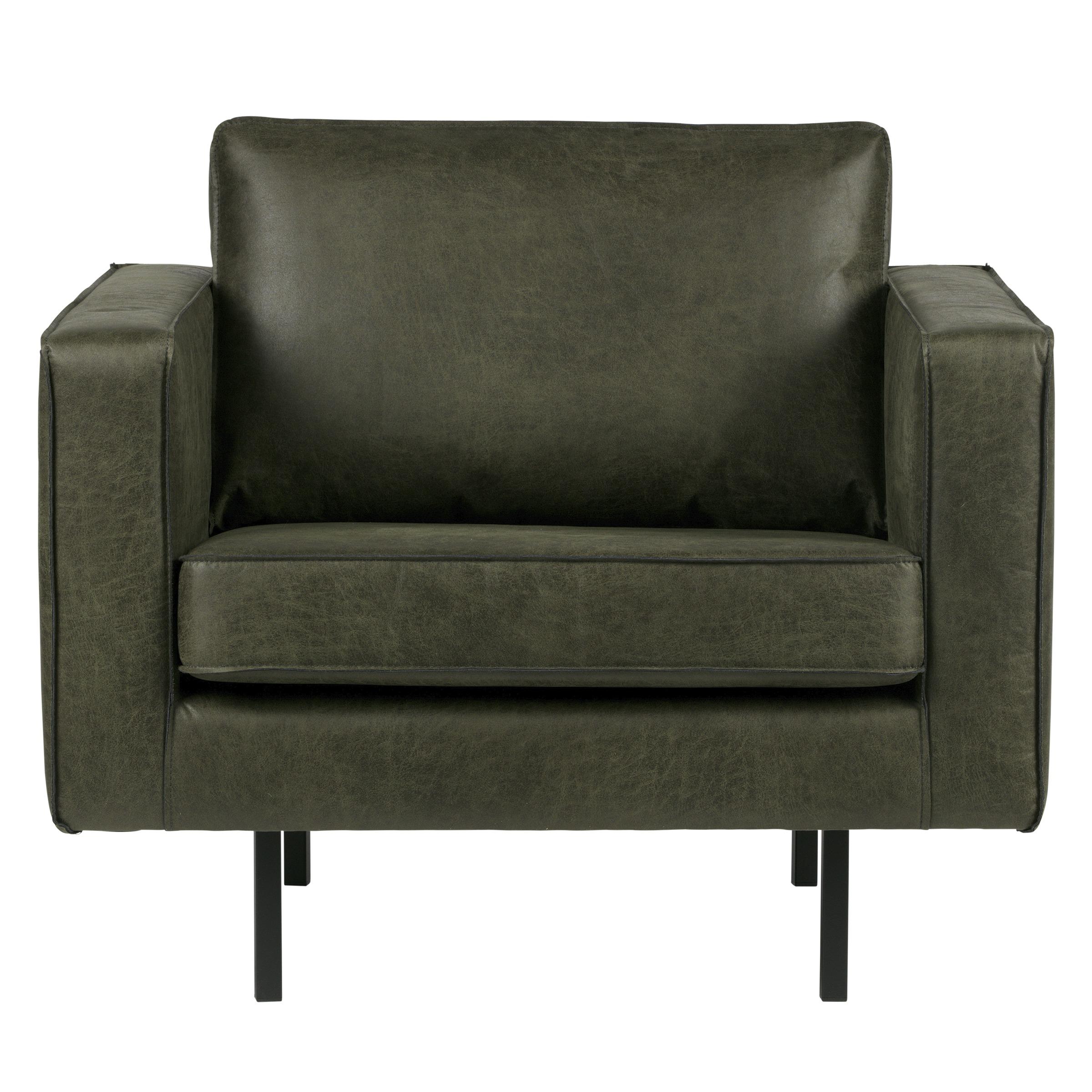 WOOOD fauteuil Indy eco leer warm groen