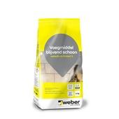 Weber SG voegmiddel blijvend schoon lichtgrijs 4 kg