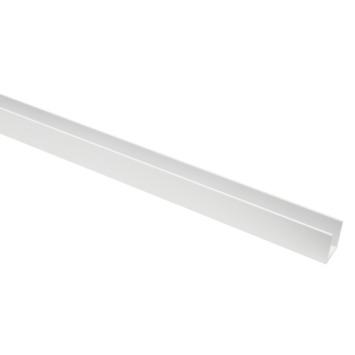 U-Profiel aluminium wit RAL9016 20x20x20x2mm 100cm