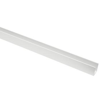 U-Profiel aluminium wit RAL9016 20x20x20x2mm 250cm