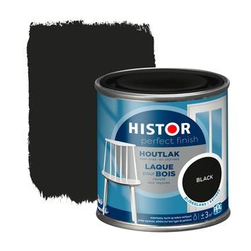 Histor Perfect Finish houtlak zijdeglans RAL 9005 zwart 250 ml