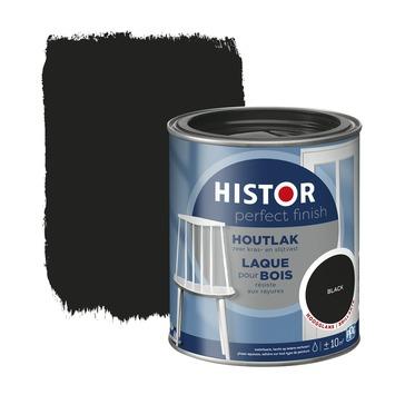 Histor Perfect Finish houtlak hoogglans RAL 9005 zwart 750 ml