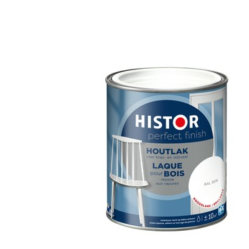 Histor Perfect Finish houtlak hoogglans RAL 9016 750 ml