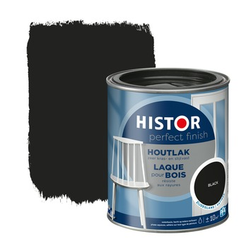 Histor Perfect Finish houtlak zijdeglans RAL 9005 zwart 750 ml