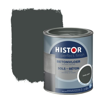 Histor Perfect Finish betonvloer zijdeglans RAL 7043 dark grey 750 ml