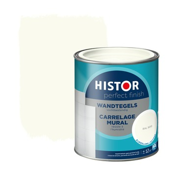 Histor Perfect Finish wandtegels zijdeglans RAL 9010 750 ml