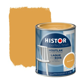 Histor Perfect Finish houtlak zijdeglans brass mesh 750 ml